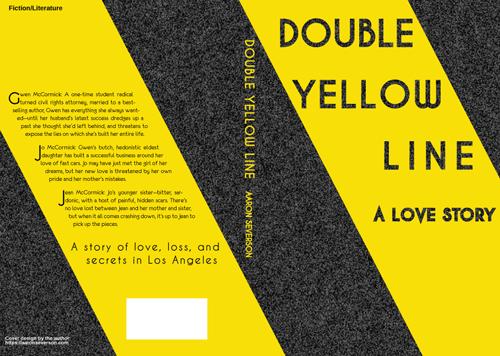 Double Yellow Line wraparound cover mockup